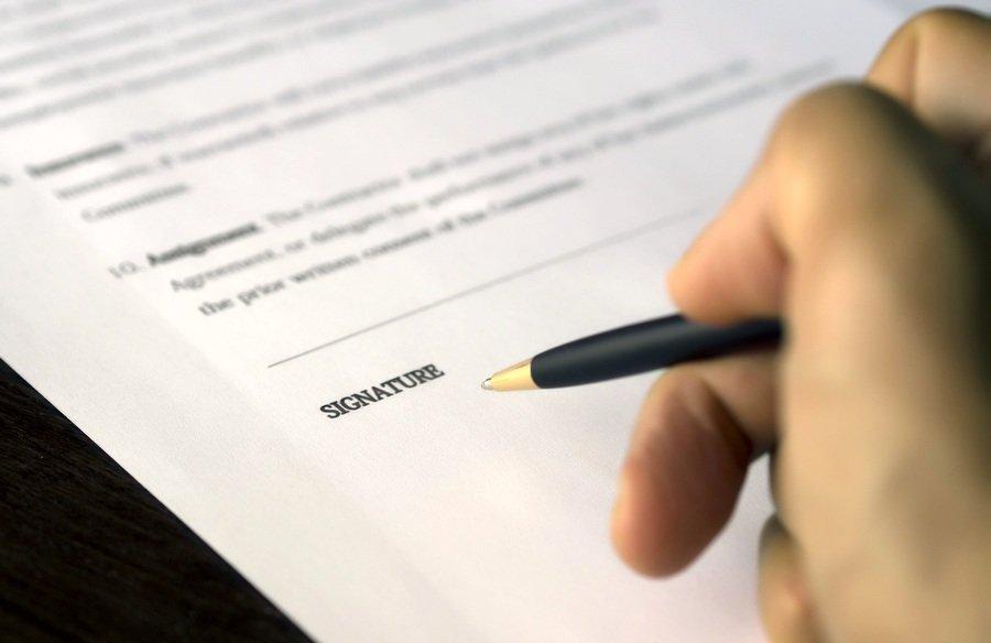 Unterschrift - Vertrag